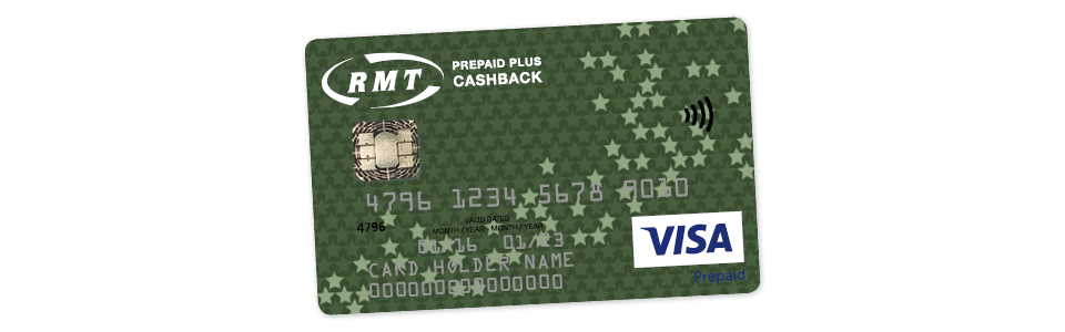 Welcome to the RMT Prepaid Plus Cashback card!