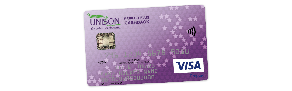 Welcome to the UNISON Prepaid Plus Cashback card!