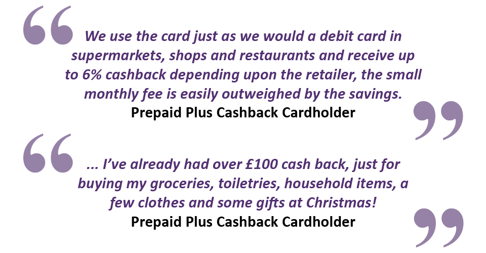 Feedback from our prepaid cardholders