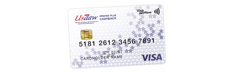 Welcome to the Usdaw Prepaid Plus Cashback card!
